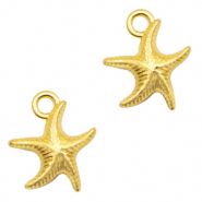 Metal charms seastar Light Gold (nickel free)