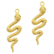 Metal charms snake Light Gold (nickel free)