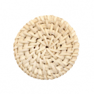 Braided rattan pendants round 35mm Naturel Beige