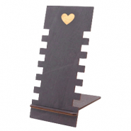 "Jewellery display wood ""Heart"" Black"