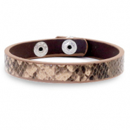 Ready-made bracelets snake Beige Brown