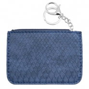 Trendy wallets snake Dark Blue