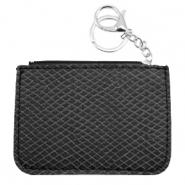 Trendy wallets snake Black