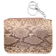 Trendy wallets snake Beige Brown