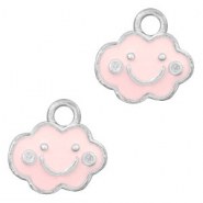 Metal charms cloud Silver-Pink