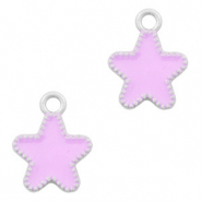 Metal charms star Silver-Purple
