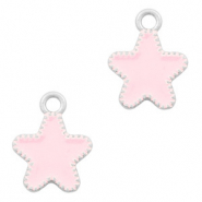 Metal charms star Silver-Pink
