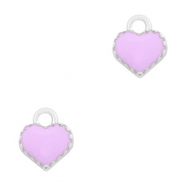 Metal charms heart Silver-Purple