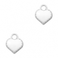 Metal charms heart Silver-White