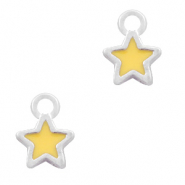 Metal charms star Silver-Yellow