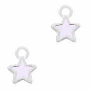 Metal charms star Silver-Light pink
