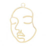 Metal charms lined face Gold