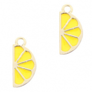 Metal charms lemon Gold-Yellow