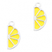 Metal charms lemon Silver-Yellow