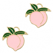 Metal charms peach Gold-Pink