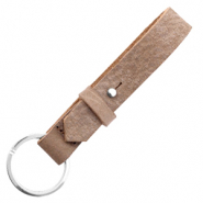Cuoio key chain 15 mm Toffee Brown