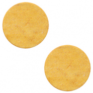DQ European leather cabochons 20mm Mineral Yellow