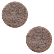 DQ European leather cabochons 12mm Toffee Brown