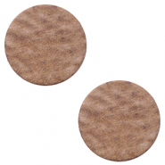 DQ European leather cabochons 12mm Sequoia Brown