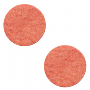 DQ European leather cabochons 12mm Living Coral Red