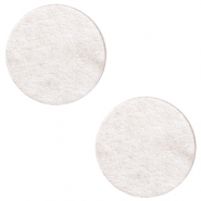 DQ European leather cabochons 12mm Sweet Corn Grey