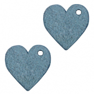 DQ European leather charms heart Legion Blue