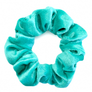 Scrunchie velvet hair tie Viridian Green