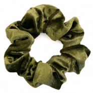Scrunchie velvet hair tie Moss Green