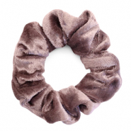 Scrunchie velvet hair tie Taupe