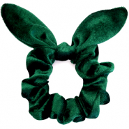 Scrunchie velvet hair tie bow Verdant Green
