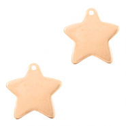 DQ European metal charms star Rose Gold (nickel free)