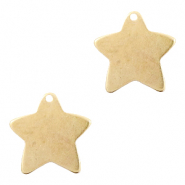 DQ European metal charms star Antique Bronze (nickel free)
