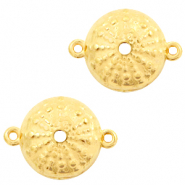 DQ European metal charms connector urchin round 15mm Gold (nickel free)
