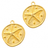 DQ European metal charms seastar Gold (nickel free)