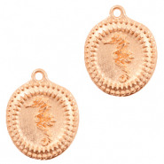 DQ European metal charms seahorse Rose Gold (nickel free)