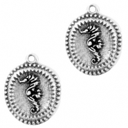 DQ European metal charms seahorse Antique Silver (nickel free)