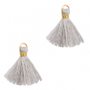 Tassels 1.5cm Gold-Light Grey