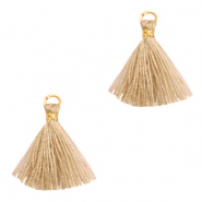 Tassels 1.5cm Gold-Camel Brown