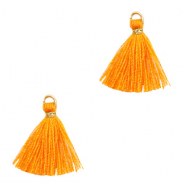 Tassels 1.5cm Gold-Persimmon Orange
