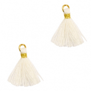 Tassels 1.5cm Gold-Off White
