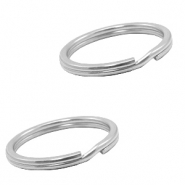 Stainless Steel findings keychain ring 25mm Silver