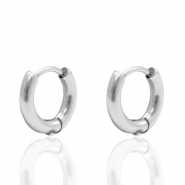 Stainless Steel earrings creole 12mm (Ø8mm) Silver