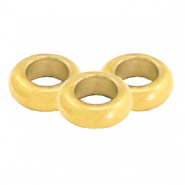 Stainless steel findings bead/ring 3x1mm Gold