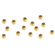 Stainless steel findings crimp bead 2mm Gold