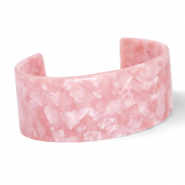 Ready-made Bracelets resin Rose Pink