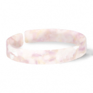 Ready-made Bracelets resin loose fit White-Pink