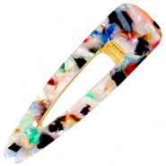 Hair accessories hair clip resin XL Multicolour-Gold