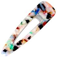 Hair accessories hair clip resin XL Multicolour-Silver