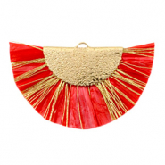 Tassels charm Gold-Haute Red