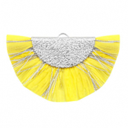 Tassels charm Silver-Empire Yellow